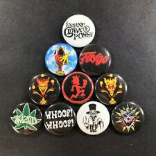 "Juggalo 1"" Button Set (10 Pins) ICP Faygo Twiztid Hip Hop Metal Insane Clown"
