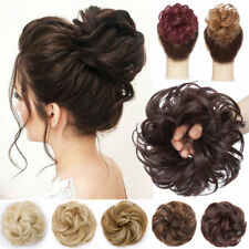 Thick Curly Messy Bun Hair Piece Scrunchie Updo Wrap Natural Hair Extensions DZQ