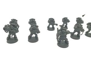 Warhammer 40k Space Marines Tactical Squad x 10 Undercoated units C43