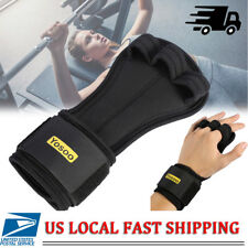 Fitness Gloves Weight Lifting Grip Gym Workout Power Training Wrist Wrap Strap