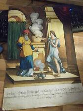 Art Humor Wunderschöner Handgemalter Taschenkalender 1946 Kunst Blumen Malerei Deko