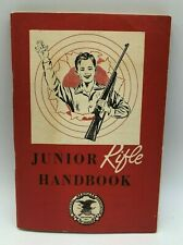 "Vintage Nra Junior Rifle Handbook 1957 - 4"" x 5-3/4"" - 53 Pages"