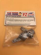 Vintage Yokomo 870C ZC-415 Magnesium steering block and rear hub carrier