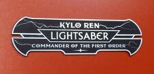 CUSTOM KYLO REN LIGHTSABER DISPLAY PLATE PLAQUE STAR WARS JEDI