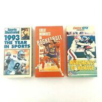 Vintage Sports VHS Tapes Football Basketball Sports Illustrated Lot of 3