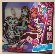 "MONSTER HIGH 150 Piece Jigsaw 3D Puzzle 12""X18"" Mattel Original Ghouls 2012 NIB"