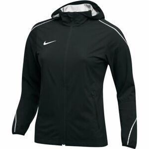 $140 Womens Nike Nylon Running Jacket Hooded Reflective Weather Resistant Black