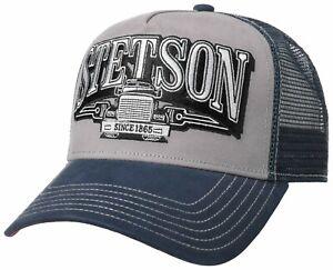Stetson Trucker Cap Baseball Mesh Snap Cap Trucking Blue Grey New Trend