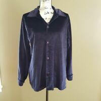 Y.M.L.A. Vintage Purple Velvet Blouse size Medium