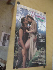 "ORIGINAL Rolled Movie poster: 21 x 34"" ROMANCING THE STONE douglas turner  1984"
