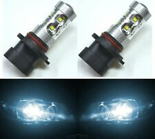 LED 50W 9005XS HB3A White 6000K Two Bulbs Head Light High Beam Replacement
