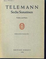 Telemann ~ Sechs Sonatinen - Violine und Piano