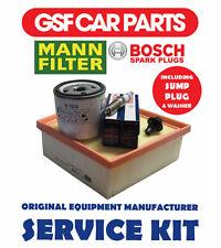 Service Kit Oil Air Filters Spark Plugs & Sump Plug Ford Fiesta 1.6 Ti 1.4