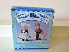 Hallmark Merry Miniatures Wendy & Alex Madame Alexander Mib