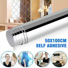 Mirror Reflective Kitchen Wall Stickers Self Adhesive Tile Film Paper Home Decor