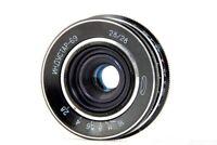 Vintage LEICA m39 INDUSTAR 69 f 28mm 1:2.8 Pancake Lens Nice Soviet USSR Macro