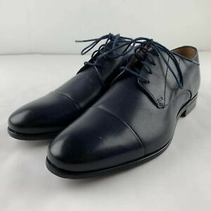 NEW Florsheim The Angelo Shoe Size 11.5 M Navy Blue Leather Oxford Cap Toe 11756