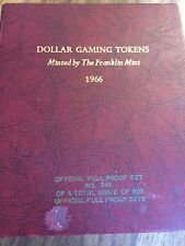 Franklin Mint 1966 Set Of 72 Full Proof Gaming Tokens Limited Ed # 345/500 Rare