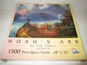 "Noahs Ark 1500 Piece Jigsaw Puzzle Tom DuBois 24"" x 33"" SunsOut SEALED"