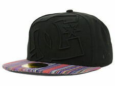 DC SHOES NEW ERA 59FIFTY BLACK WITH  MULTI COLOR BILL FITTED HAT CAP 7 1/2