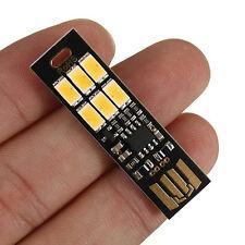 Soshine 6-LED USB Power Night Light 1W 5V Touch Dimmer Function Warm/White Light