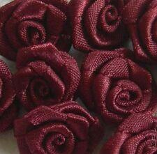 Lot de ROSES en satin grand modèle couleur bordeaux