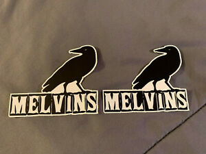 "Lot of 2 MELVINS 3 1/4"" x 4"" Band Logo Stickers FAST SHIP! Buzz Osborne CROW"