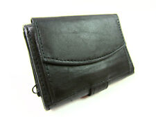 Mens Womens Black Leather Credit Card Holder Wallet Purse Notecase Coin Pocket