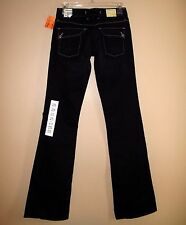 $190 Agave USA Jeans Vaquera Sexy Flare Flap Pocket Low Rise Black Flex 25 XS 0