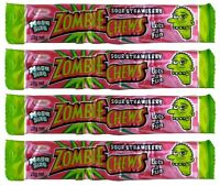 Zombie Chews 20 Sour Strawberry Mega Size 28g Candy Buffet Bulk Lollies Favors
