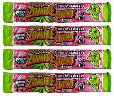 20 x Zombie Chews Sour Strawberry Mega Size 28g Candy Buffet Bulk Lollies Favors