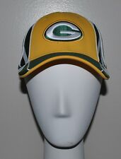 Green Bay Packers Hat REEBOK Fitted Football NFL Yellow Green Stretch Fit Flex