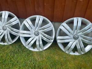 VW Polo Wheel Trim 14 Inch 2017 6C0601147 Genuine VW Free Next Day Delivery