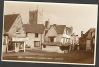 Postcard Marlborough Wiltshire view of Kingsbury Street RP by Judges