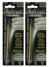 "Fisher Space Pen #SU4F Universal Refill / TWO (2) BLACK ""SU"" Series Ink Refills"