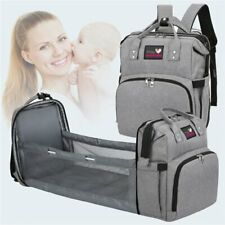 Backpack Changing Mat Portable Multipurpose Mom Bag with Thermal Stroller Hooks