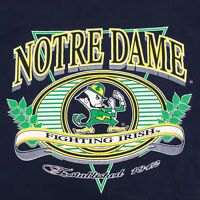 Vintage 1980's Notre Dame Fighting Irish Graphic T-Shirt Navy Sz M Single Stitch