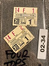 Vintage Ticket Stub Lot: Four Tops Covina, CA Carousel Theatre 02-34