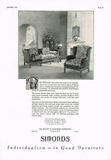 1920s BIG VINTAGE Simonds Sheraton Chair Furniture Byron G Newton Art Print AD .