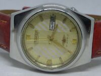 *RARE CITIZEN AUTOMATIC DAY&DATE GOLDEN COLOR 21 JEWELL JAPAN MADE WORKING WATCH