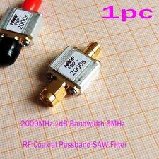 Rf Coaxial Passband 2000Mhz 1dB Bandwidth 5Mhz Saw Filter / Sma Interface