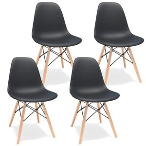 Dining Chair Nordic Style Office Chair for Kitchen Living Room Shell Chair 4 Set