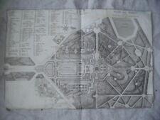 PLAN ANCIEN XVIIIè SIECLE MARLY 1776 LE ROUGE / VERSAILLES ROI ROYAUTE NOBLESSE