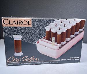 NEW Vintage NOS Clairol Custom Care Setter KF-20 Hot Velvet Rollers & Clips 1981