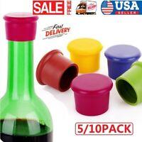 5 10Pack Reusable Silicone Corks Cover Wine Beer Bottle Cap Stopper Home Sealer