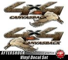 Canvasback 4x4 Truck Decal Sticker Duck Hunting Camouflage Commander Set