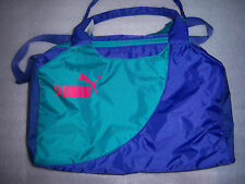PUMA PURPLE/ Green DUFFLE GYM SPORTS YOGA CROSS FIT NYLON BAG GIRLS WOMEN NWT