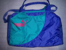 PUMA PURPLE/ Green DUFFLE GYM SPORTS YOGA CROSS FIT NYLON BAG GIRLS WOMEN NWT