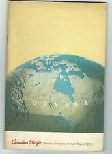 1963 Canadian Pacific Railway Company Annual Report Financial Statistics