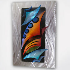 """Aquadelic"" Modern 3D Abstract Metal Wall Art Work Painting Sculpture Fish XL"